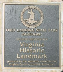 First Landing Historical Sign